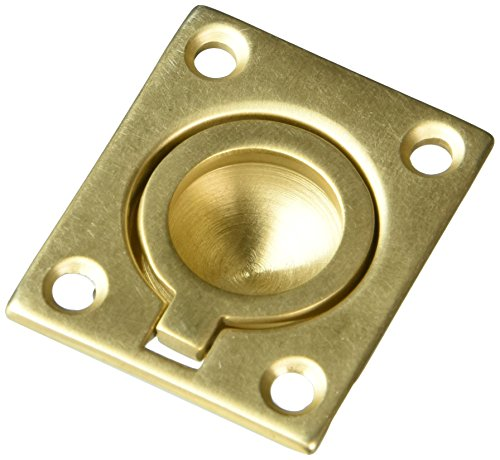 Baldwin Brass Round Pull - Baldwin 0392033 Flush Ring Pull, Vintage Brass