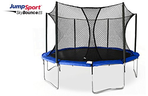 Jumpsport Skybounce Es 14 Trampoline With Enclosure   Includes Overlapping Doorway Entry   Uv Resistant Pad