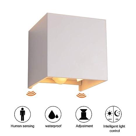 Ralbay 12W LED Apliques De Pared Modernos, Lamparas de Pared con sensor de movimiento,