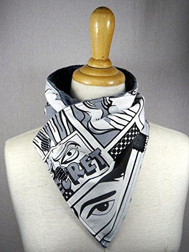 col écharpe motif manga doublé de minky pilou