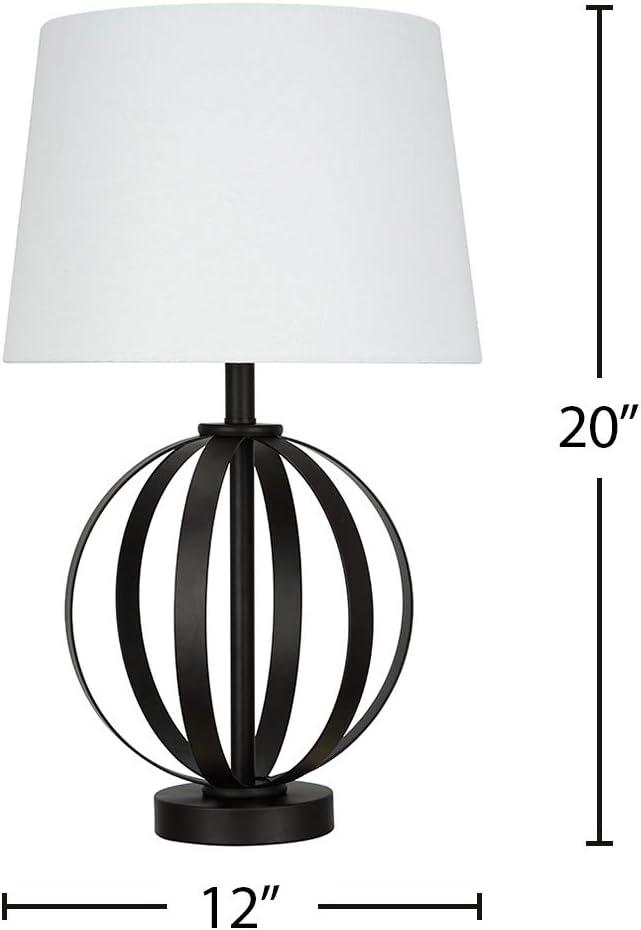 Amazon Brand Ravenna Home Round Base Table Lamp With Led Light Bulb 20 H Dark Bronze