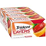 Trident Layers Strawberry + Citrus Sugar Free Gum - 12 Packs