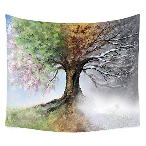 QCWN Ethnic Tree of Life Tapestry Colorful Tree Hippie Bohemian Tapestry Psychedelic Magical Mysterious Wall Hanging Tapestry for Bedroom Living Room Dorm(Tree of Life, 78Wx59L)
