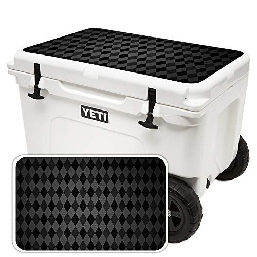 (MightySkins Skin for Yeti Tundra Haul Cooler Lid - Black Argyle | Protective, Durable, and Unique Vinyl Decal wrap Cover | Easy to Apply, Remove, and Change Styles | Made in The USA)