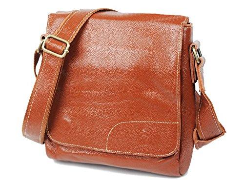 HOUCHOUZOKU 庖丁族 本革鞄 男性 革 レザー 内蔵磁石ボタンで閉じ ショルダー 本革 ショルダーバッグ メンズ 841201 B00YOR6KEK  Brown