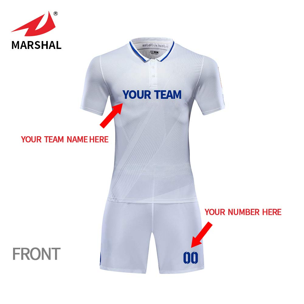 0d0f816a5 ZHOUKA 2018 sublimation custom american football jersey new model design shirt  soccer uniforms jersey color white  Amazon.co.uk  Sports   Outdoors