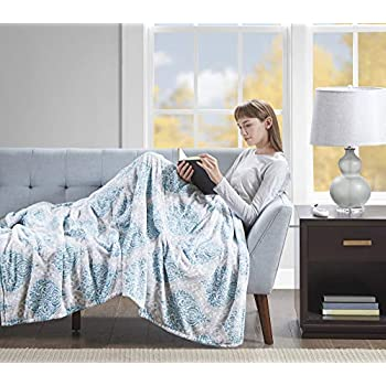 Beautyrest Senna Electric Blanket Plush Throws-Secure Comfort Technology-Oversized 60
