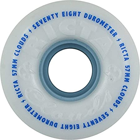 Ricta Clouds White 54mm 78a Skateboard Wheels (Set Of 4)