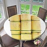 kitchen 67 brunch PINAFORE HOME Round Tablecloth Piece Sugarcane Over White Background for Kitchen 67