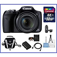 Canon Powershot SX530 HS 16.0 MP Digital Camera with 50x Optical Zoom and 1080p Full HD Video Bundle Kit; Includes: NB-6L Battery, 32GB SDHC High Speed Memory Card, Small Camera Bag, Mini Tripod, Card Reader, Lens Cleaning Kit, Memory Card Wallet and Mini HDMI Cable Advantages Review Image