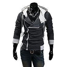 Mxnpolar Fashion Men's Full Zip Smart Fleece Hoodie Cosplay Costume