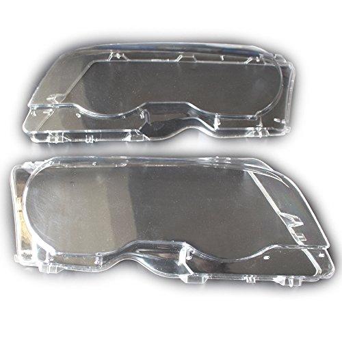 Arotom Fit for BMW 3 Series E46 2 Door M3 2001-2006 Headlight Lens Plastic Covers Left + Right (E46 Headlight Left Lens)
