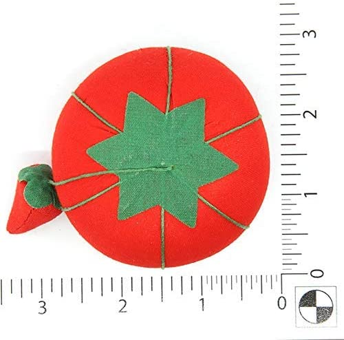 24-Pack Dritz Bulk Package Tomato Pin Cushion with Emery Size 2 Renewed 3//4-Inch Red