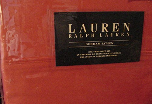 Lauren Ralph Lauren Dunham Poppy Coral Orange Sheet Set Twin