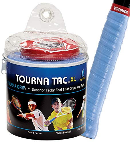 Tourna Tac Blue 30 Pack Travel Pouch Tacky Feel Tennis Grip