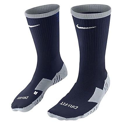 Nike Team MatchFit Core Crew Sock - Calcetines de fútbol unisex, negro / azul /