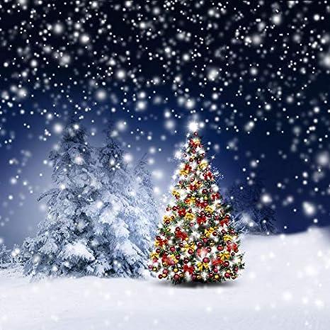 Merry Christmas Background Images.Amazon Com Leowefowa Merry Christmas Backdrop 8x8ft Vinyl