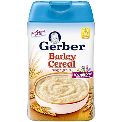 Gerber Baby Cereal, Barley, 6 Count