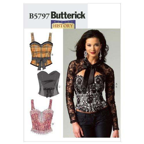 Mccall Pattern Butterick Patterns B5797A50 Misses' Corset...