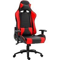 كرسي ألعاب الفيديو عالي الظهر 09854 من ماهماي جامي - كرسي لعب دوار مريح 360 درجة مصنوع من الجلد الصناعي مع دعم قطني…