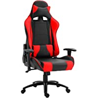 Mahmayi Gumi 09854 High Back Video Gaming Chair – PU Leatherette Upholstered Ergonomic 360 Swivel Game Chair with Lumbar…