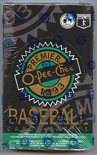 1993 O-Pee-Chee Premier Baseball Box