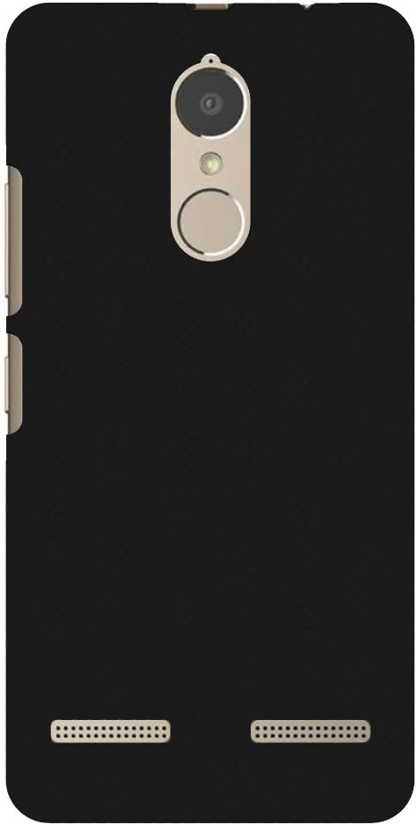 AMZER Slim Handcrafted Designer Printed Hard Shell Case Back Cover For Lenovo K6 Power - Carbon Black With Texture