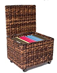 The BirdRock Home Seagrass Rolling File Cabinet is the perfect file organizer for your office or home office. The box adds a stylish and decorative accent, unlike the old fashioned metal filing cabinets commonly found in offices today. Woven ...