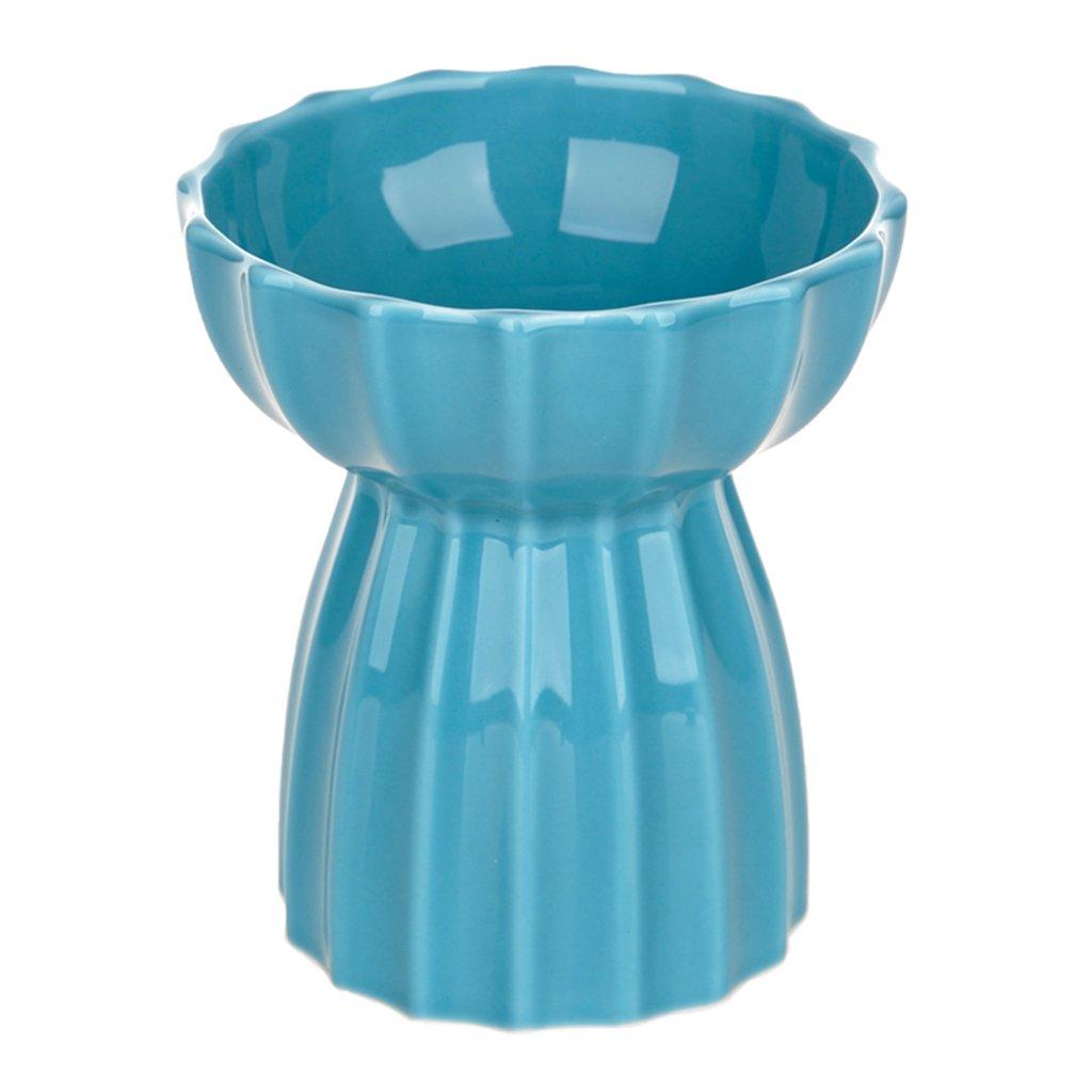 Love pets Ciotola per Animali in Ceramica per Gatti Ciotola per Gatti in Ceramica Dorata Ciotola per Cibo per Gatti Ciotola per l'acqua Ciotola per Cibo (colore   Blu)