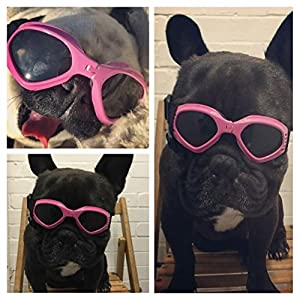 Namsan Dog Sunglasses - Dog Goggles UV Protection Sunglasses for Dog - Pink
