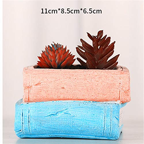 Cement Planter - Creative Desktop Decoration Craft Cement Pot Pen Holder Mold for 3D Book Box Car Bag Planter Flowerpot Silicone Molds