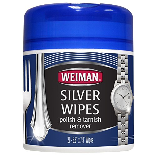 Silver Wipes - Jewelry Wipes - Cleaner and Polisher for Silver Jewelry Sterling Silver Silver Plate and Fine Antique Silver - 20 Count - Ammonia Free