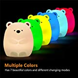 Cute Night Light for Kids, Makion Bear Remote