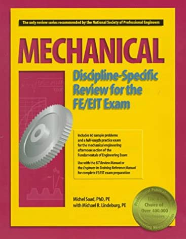 mechanical discipline specific review for the fe eit exam michel rh amazon com Exam Questions Fe Mechanical Exam Oregon