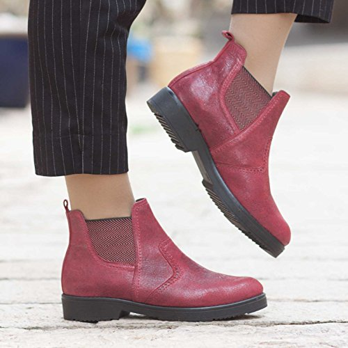 Handmade Leather Women's Flat Ankle Boots by