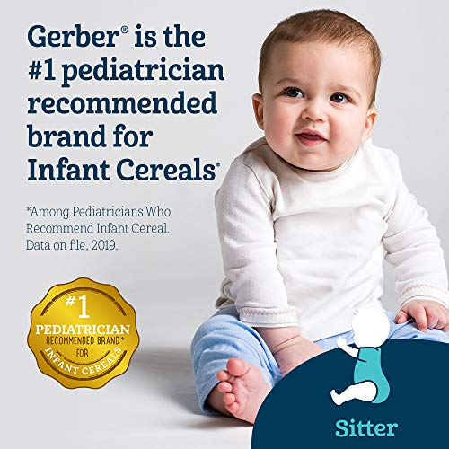 51VEJtBebiL - Gerber Baby Cereal Probiotic Oatmeal & Banana Baby Cereal 8 Ounces (Pack Of 6)