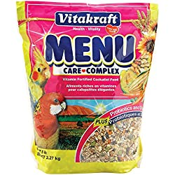 Vitakraft Menu Vitamin Fortified Cockatiel Food, 5 Lb.
