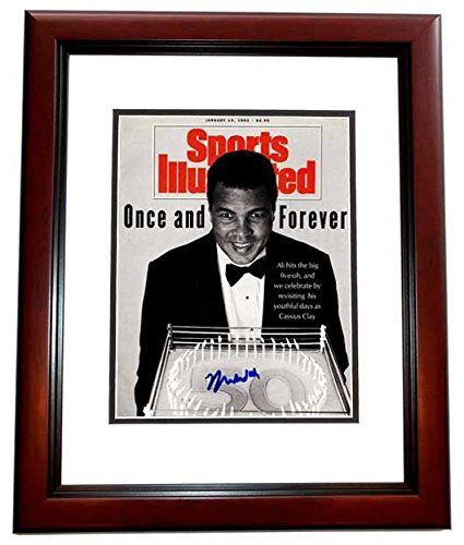 Muhammad Ali Signed Autographed Original 1992 Sports Illustrated Magazine Cover MAHOGANY CUSTOM FRAME Guaranteed to pass or JSA PSA/DNA Certified