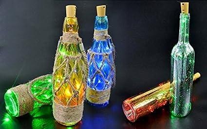 Luces de corcho para botellas de vino 6 unidades para Navidad/boda/fiesta/
