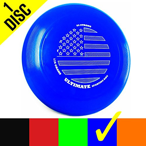 50 Strong Brand Ultimate 175 Gram Flying Sporting Disc - Best Gift for Adults and Kids - Made in USA (One Disc)