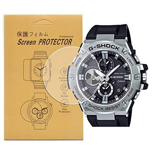 [5-Pcs] For Casio GST-B100 Watch Screen Protector,Full Coverage Screen Protector for GST-B100 / GST-B100-1ACR/GST-B100X-1AJF/GST-B100D-1ACR HD Clear Anti-Bubble and Anti-Scratch