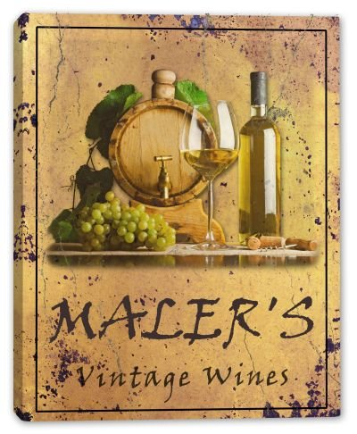 MALER'S Vintage Wines Gallery Wrapped Canvas Sign 3 SIZES AVAILABLE - 16