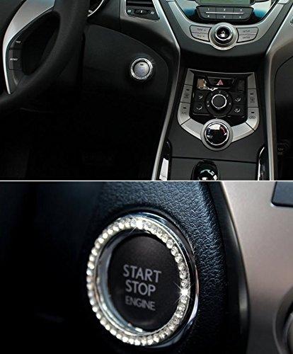 dikete 4pcs car interior one key engine start stop ignition push button decorative diamante. Black Bedroom Furniture Sets. Home Design Ideas