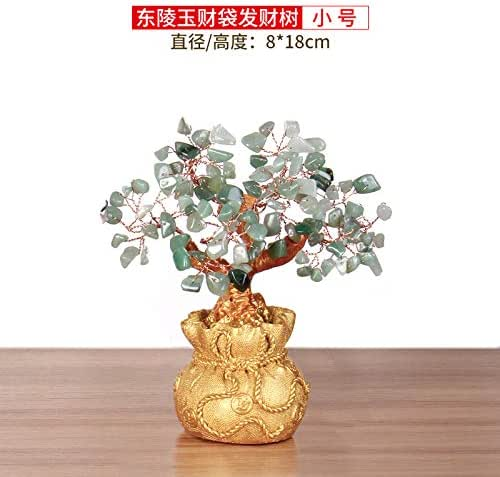 Willower Desktop Safety New Housing Recruitment Arrangement Running Business Prosperity Tree Tea Table TV Prosperity Tree,Money Bag Shakes Money Tree Dongling Jade Trumpet