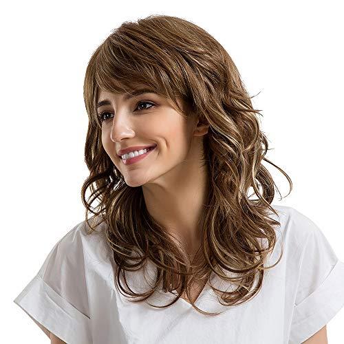 Hot Sale Fashion Linen Brown Multi-layered Natural Long Hair Wigs Human Hair Women Wig Natural Looking