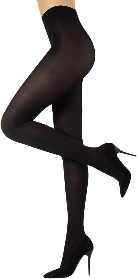 New womens ladies black plain semi opaque tights 60 denier size  XL 16-18