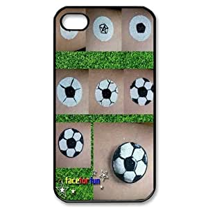 Fggcc Soccer Ball Cell Phone Case for Iphone 4,4S,Soccer Ball Iphone 4,4S Back Case (pattern 8)