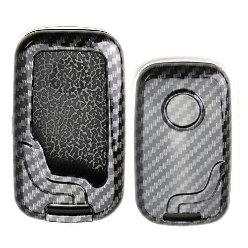 - iJDMTOY Exact Fit Black Glossy Carbon Fiber Finish Key Fob Shell For Lexus IS ES GS LS CT LX GX RX, etc 1st Gen Smart Keyless Fob