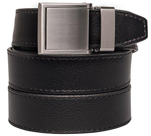 Large Product Image of SlideBelts Square Buckles Leather Ratchet Belt - Custom Fit