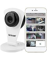 Sricam Cámara IP Wifi, Cámara de Vigilancia Interior 720P HD, Visión Nocturna, Audio Bidireccional, Detección de Movimiento, Seguridad para Bebé y Mascotas, Compatible con IOS y Android